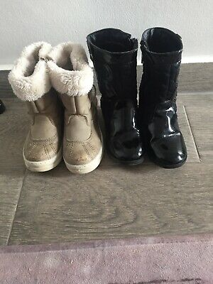 George Boots Infant Size 7UK black And Snow Boots