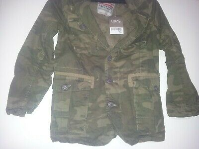 BNWT NEXT boys camouflage jacket age 7 years 122cm