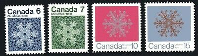 Canada No 554 To 557, Christmas 1971: Snowflakes,  Mint Nh