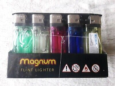 MAGNUM FLINT LIGHTER 50PCS brand new cheapest on ebay express delivery colourful
