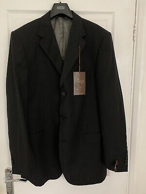 "NEW Marks & Spencer Mens Italian Wool Suit Jacket 44"" M&S Collezione - Pinstripe"