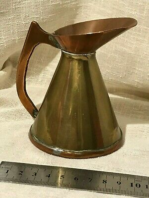 Antique Copper And Brass Arts And Crafts Jug , FREE UK POSTAGE .