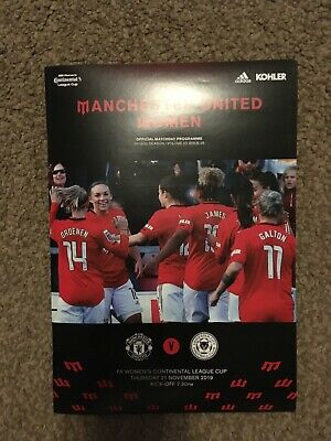 Manchester United Women v Leicester Women 2019-20 Continental Cup Programme