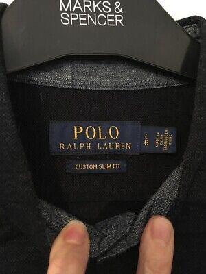 Polo By Ralph Lauren Mens Shirt Blue Large Slim Fit Long Sleeve