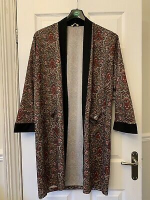 MENS VINTAGE 60's 70's TRICEL PAISLEY DRESSING GOWN / ROBE SIZE S