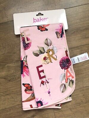 New Ted Baker Baby Girls Light Pink Nursery Blanket Throw One Size