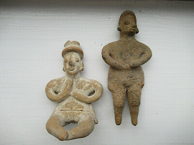 2 Pre Columbian Pottery Colima Figures ( Indian Pottery )