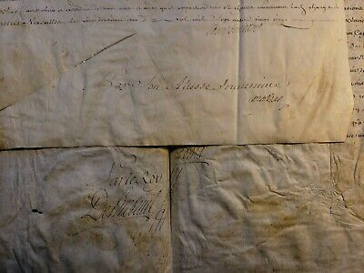 KING LOUIS XV and LOUIS, DUKE of ORLEANS AUTOGRAPHS ON MILITARY DOCUMENTS - 1725