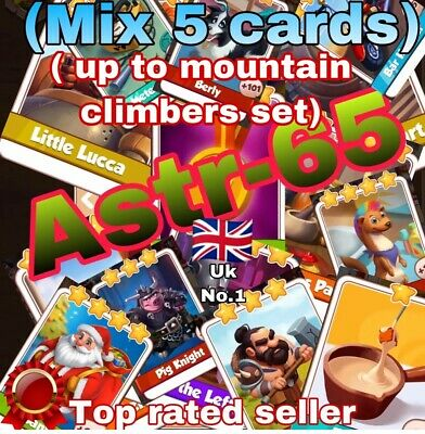 Coin Master :-) Mix Any 5 Cards Up To Steampunk Set- Lighting Fast Sending Speed