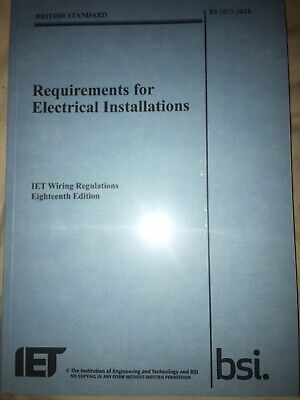 Authentic IET Wiring Regulations 18th Edition Book BS7671 2018