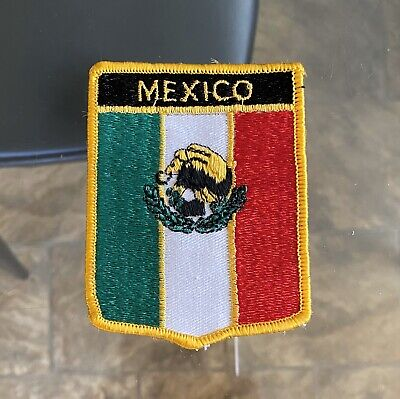 Large MEXICO Crest SEW ON Iron ON Cloth PATCH Souvenir TOURIST Embroidered BADGE