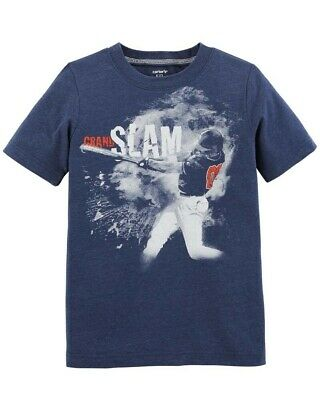 Carters Boys 7 Years Tshirt Top Clothing Baseball Grand Slam Blue Childrens Kids