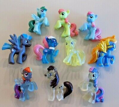 My Little Pony Blind Bag Mini Figures Lot G ~ 10 Ponies  ~ Some Clear & Glitter