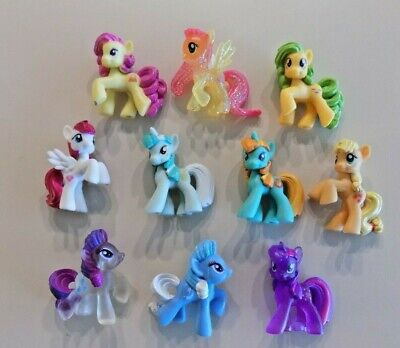 My Little Pony Blind Bag Mini Figures Lot M ~ 10 Ponies  ~ Some Clear & Glitter