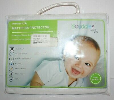 Scuddles Baby Bamboo Waterproof Crib Standard Mattress Fitted Protector