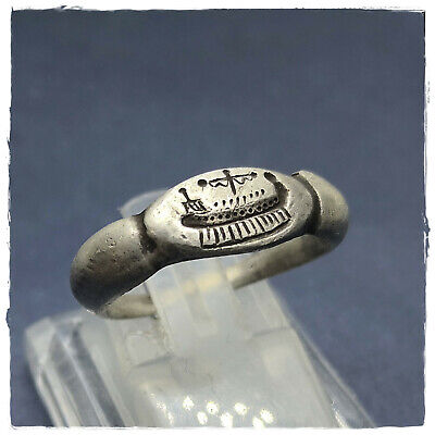 ** MILITARY GALLEY ** ancient LEGIONARY SILVER Roman RING !!!  3,83g