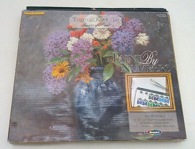 Thomas Kinkade painter of light  lilac bouquet paint by number kit