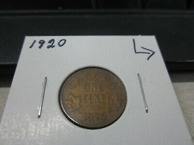 1920 Canada - 1 cent coin - Canadian penny - circulated