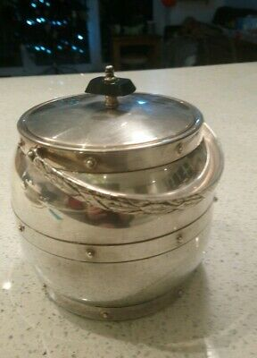 Stylish Vtg Chrome / Aluminium Linton Ice Bucket Or Cooler Barrel With Liner