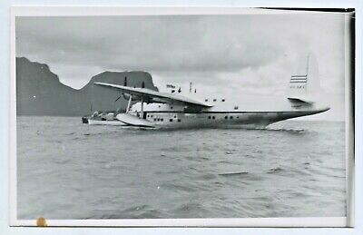 WW2 1940's RP NPU POSTCARD FLYING BOAT LORD HOWE ISLAND N C HOWARD RAN H69