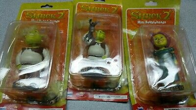 Lot RARE SHREK & DONKEY ~SHREK 2~ Mini Bobblehead by Dreamworks ACME JEWEL more