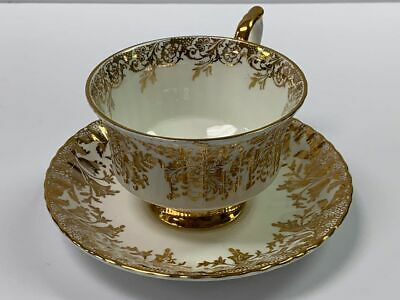 Vintage Paragon White and Gold Cup and Saucer