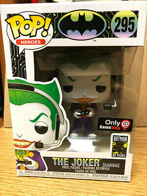 Funko Pop! The Joker Gamer Gamestop Exclusive Ship In Pop Protector And Box Qty!