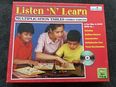 Creative Kids Listen & Learn Maths Multiplication With CD Times Tables Counters