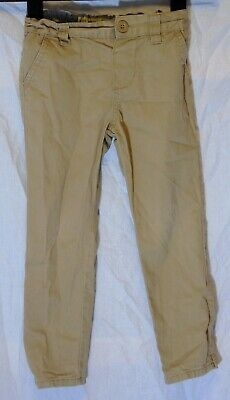 Boys Primark Beige Chino Denim Adjustable Waist Slim Fit Jeans Age 4-5 Years