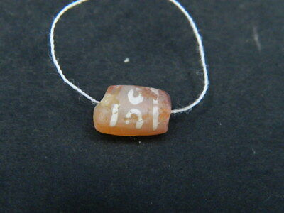 Ancient Etch Carnelian Bead Roman 200 BC No Reserve #BE5042