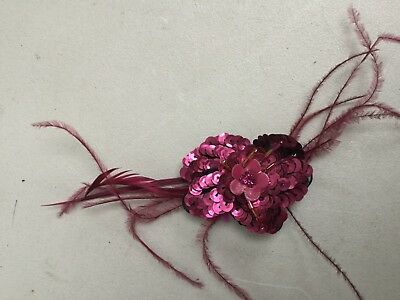 Fascinator By Accessorize - Fuschia Feather And Bead Bn Sh107