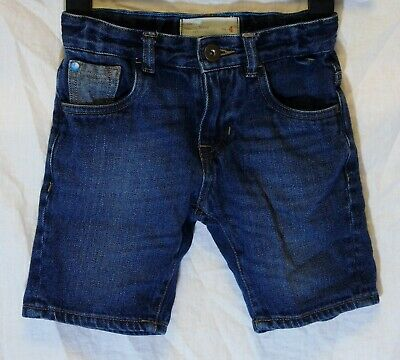 Boys Matalan Dark Blue Whiskered Denim Adjustable Waist Shorts Age 4 Years