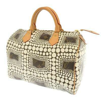 LOUIS VUITTON Speedy 30 Monogram Town Blanc Handbag Bag M40690 Yayoi Kusama