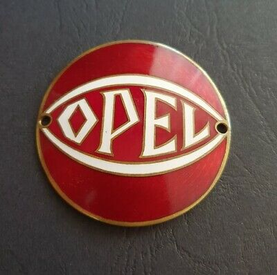 Opel Motoclub - Emblem - Ø 60 mm - emailliert / Glas emaille