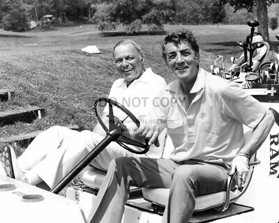 Frank Sinatra And Dean Martin Play Golf In 1988 - 8X10 Photo (Sp419)
