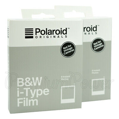 2 x Polaroid B&W i-Type Photo Film Instant Photos White frame 8 per Pack