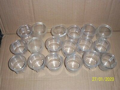 35 x  USED LARGE TOP HAT DRINKERS FOR CAGE & AVIARY BIRDS