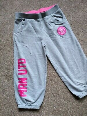 Girls Official Manchester United Cropped Joggers age 10-11 Years