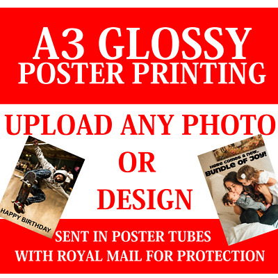 POSTER PRINTING SERVICE A3 A4 posters Personalised Photo prints