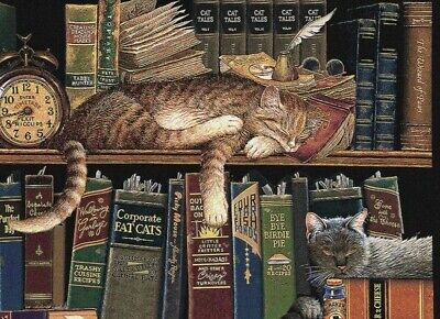 """Remington the Well-Read"" Tapestry Pillow & Matching Placemats, Charles Wysocki"