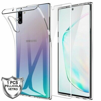 COVER per SAMSUNG GALAXY NOTE 10+ (PLUS) CUSTODIA + PELLICOLA VETRO TEMPERATO