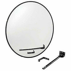 """Wide Angle Convex Safety Glass Mirror, 36"""" Diameter, Indoor"""