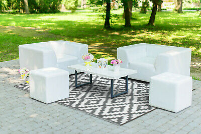 Green Decore All Weather Rain Proof Quality Outdoor Plastic Rug Nirvana