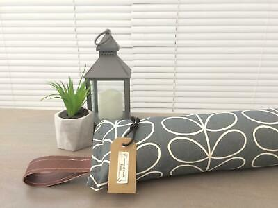 Handmade Weighted Draught Excluder in Orla Kiely linear stem dandelion 36 ins