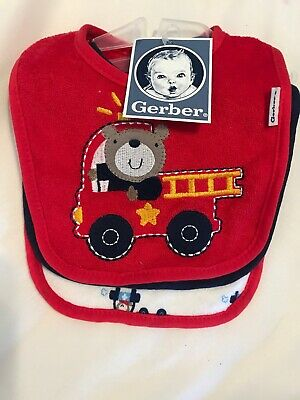Brand new with tags Gerber- Firefighter Baby Bibs