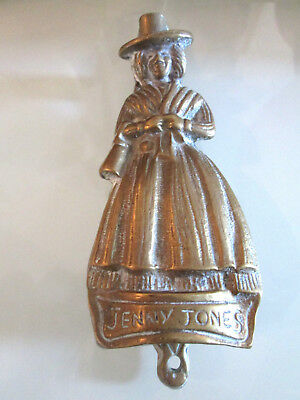 Solid Brass Jenny Jones Welsh Lady Door Knocker Old