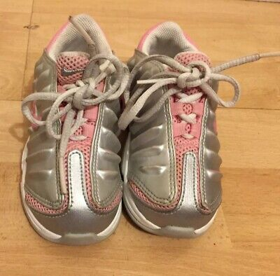 Nike Girls Trainers Infant Size 7 Uk Grey Pink Vgc