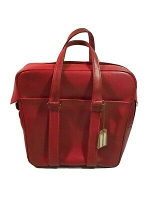 VTG Samsonite Sherbrooke Luggage Red Overnight Carry On Tote Bag Retro 60's 70's