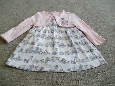 M/&Co Baby Girl Pink Flamingo Dress Size 12-18 Months
