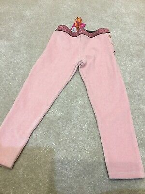 Girls Ted Baker Pink Sparkle Leggings Age 4-5 New With Tags